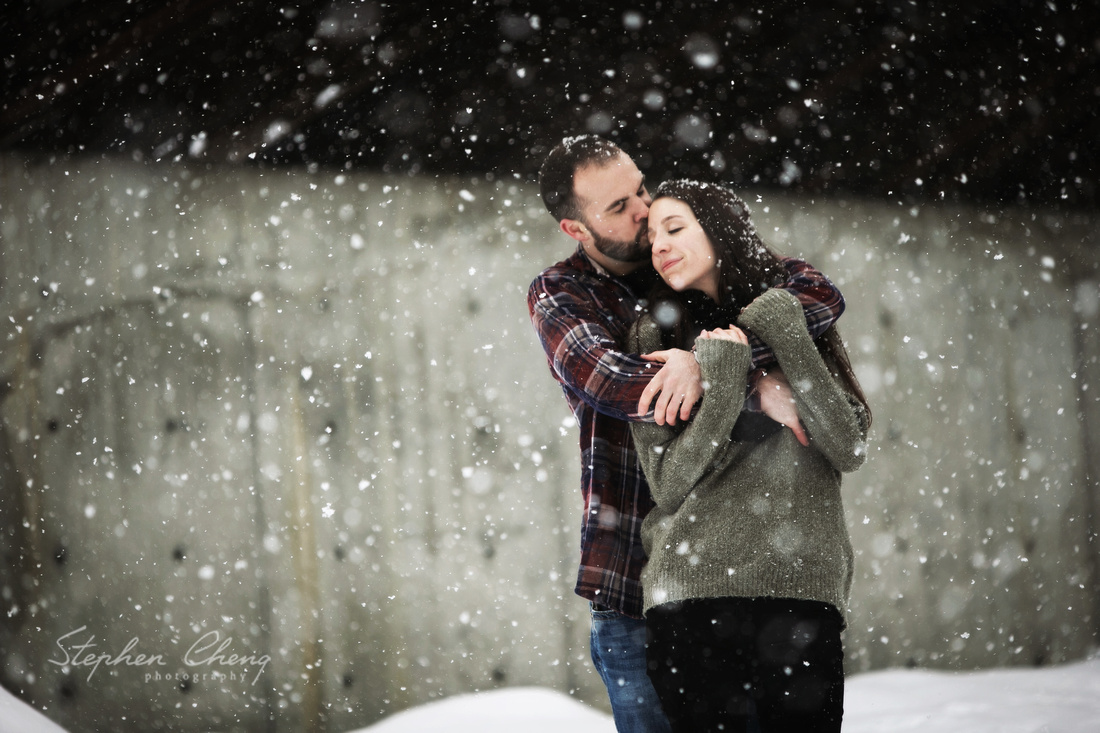 Snow Engagement Photo